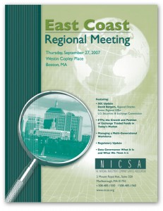 NICSA Regional Meeting Brochure