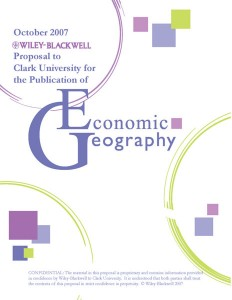 Wiley-Blackwell Economic Geography Journal